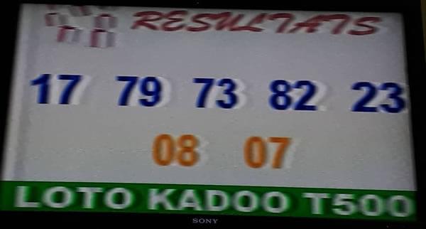 Resultat loto Kadoo tirage 500