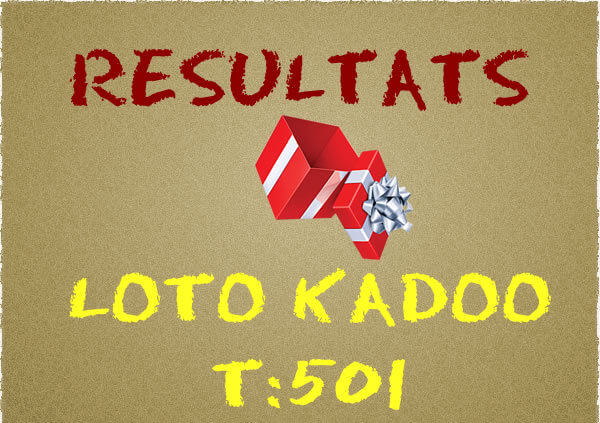 Resulats loto kadoo t501