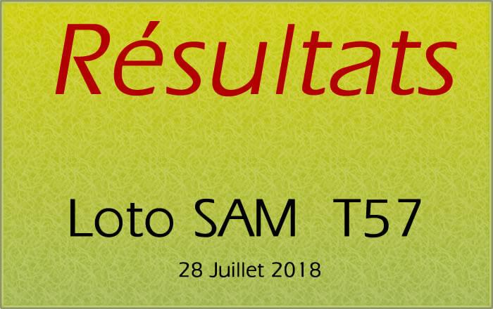 Résultats du loto SAM T57