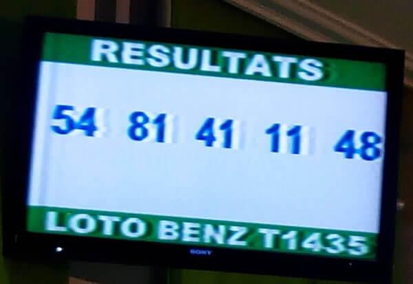 Résultat Loto Benz T1435