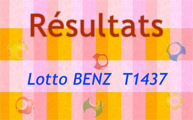 Résultats loto BENZ T 1437
