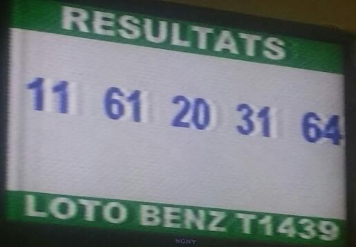 Résultats du loto Benz tirage 1439