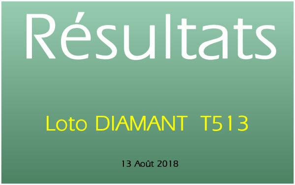Résultat Lotto DIAMANT T513