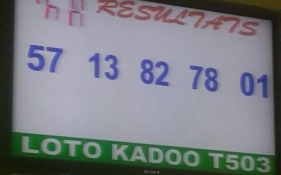 Résultats du lotto Kadoo tirage 503