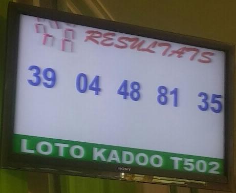 Resultats loto Kadoo T502