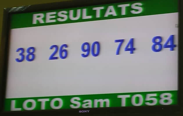 Résultats Loto SAM tirage 58