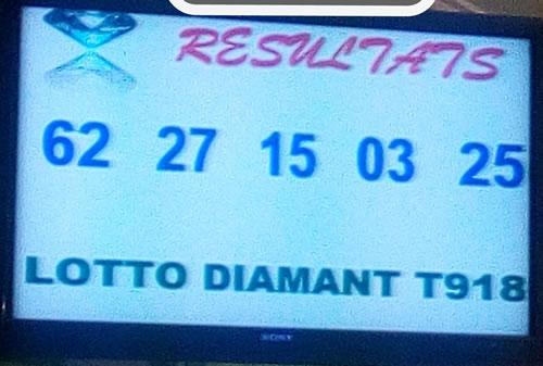 Résultats lotto Diamant tirage 918