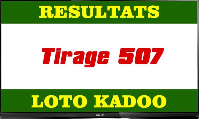 résultats du lotto Kadoo tirage 507
