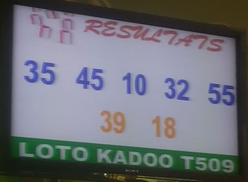 Résultats loto Kadoo tirage 509