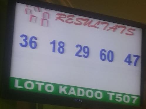 Résultats loto Kadoo T507