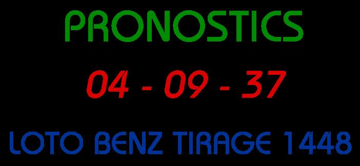 Pronostics jeu lotto benz tirage 1448