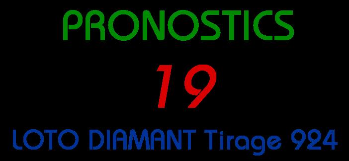 Pronostics pour le lotto Diamant tirage 924