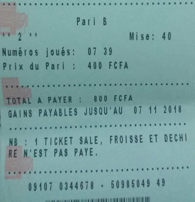 Coupons jeu lotto Benz tirage 1449