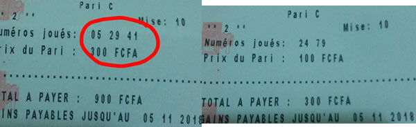 Coupon gagnant du lotto diamant