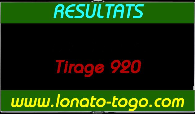 Résultats lotto Diamant tirage 920