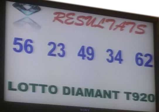 Resultats loto Diamant Tirage 920