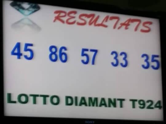 Résultats du loto Diamant tirage 924