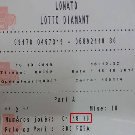 Résultats loto Diamant tirage 922