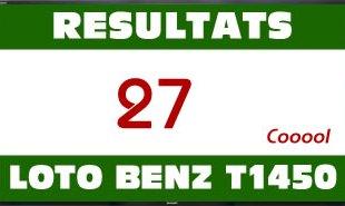 Résultats du lotto Benz tirage 1450