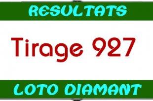 Résultats lotto Diamant tirage 927