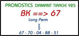 Pronostic pour le lotto Diamant tirage 925