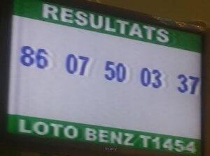 Résultats loto Benz tirage 1454