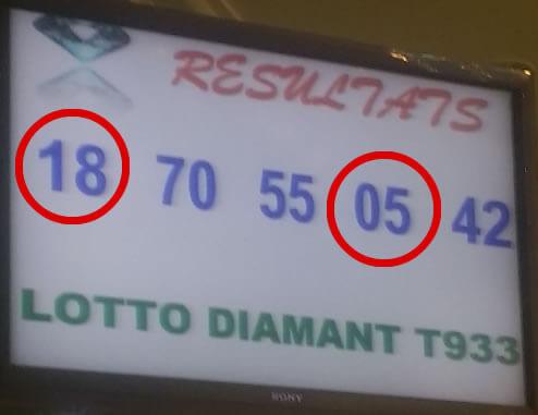 Résultats loto diamant tirage 933