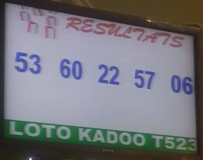 Les résultats du tirage 523 du loto KADOO du vendredi 28 décembre 2018.