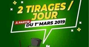 Deux tirages par jour, avec la Loterie Nationale Béninoise, à partir du 1er mars 2019
