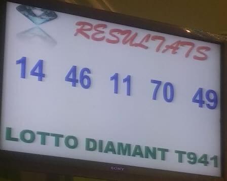 Résultats du lotto Diamant tirage 941