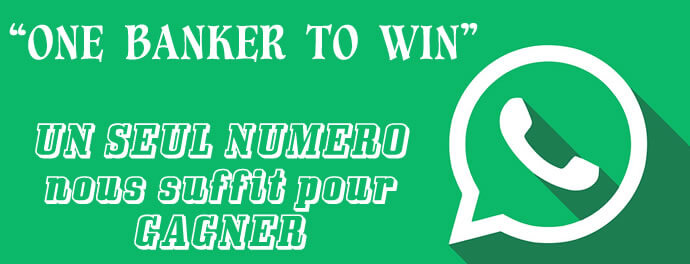 One banker to win on lotto. Un seul numéro vous suffit pour gagner au Loto