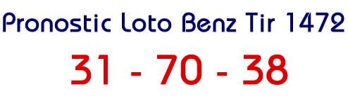 Pronostic au lotto benz tirage 1472
