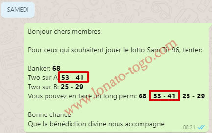"Pronostics Loto SAM tirage 96 du groupe ""One Banker to WIN"""