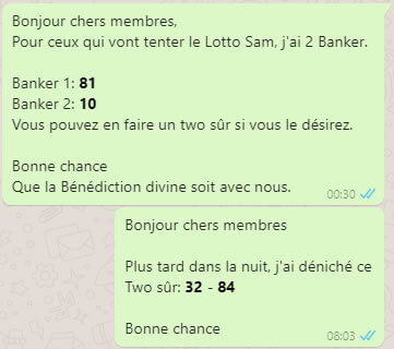Pronostic du groupe One Banker to Win pour le lotto SAM tirage 95