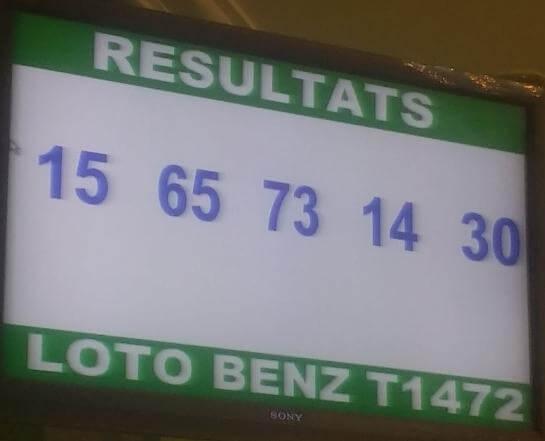 Résultats du lotto benz tirage 1472