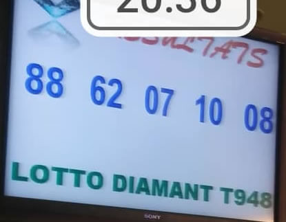 Résultats loto diamant tirage 948