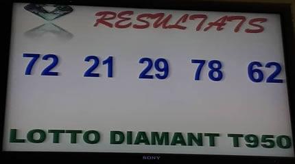 Numéros gagnants du lotto Diamant tirage 950
