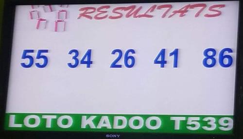 Numéros gagnants du lotto Kadoo tirage 939