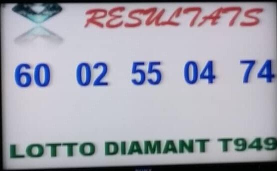 Les numéros gagnants du lotto Diamant tirage 949