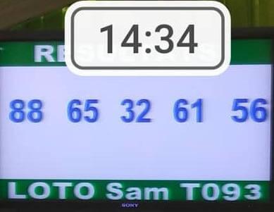 Résultats du lotto Sam tirage 93