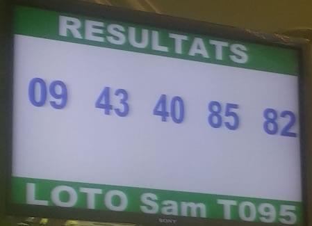 Pronostic pour le loto SAM tirage 95 dans le groupe One Banker to Win