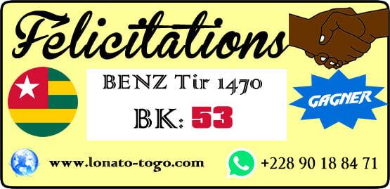 Pari gagné, pour le loto Benz tirage 1470