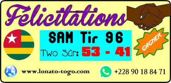 Félivitation pour la victoire au Loto SAM tirage 96 du 27 Avril 2019