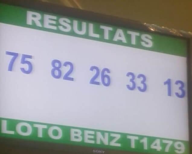Résultats ou les numéros gagnants loto Benz tirage 1479