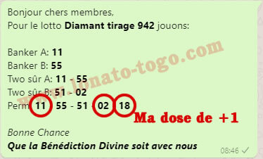 Pronostics loto Diamant tirage 942
