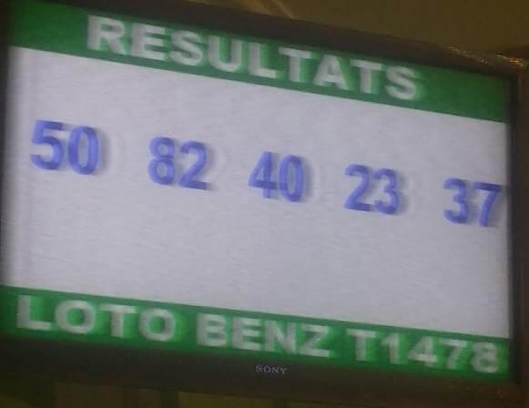 Les numéros gagnants du lotto Benz tirage 1478