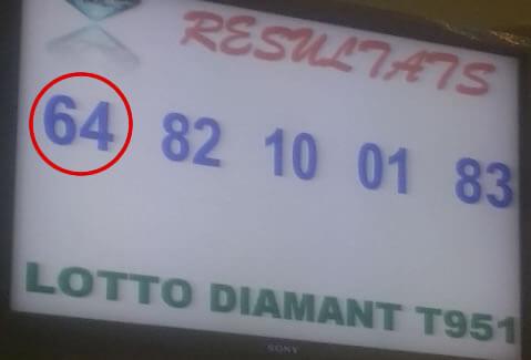 Résultats ou numéros gagnants du loto Diamant tirage 951