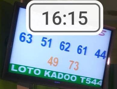 Numéros gagnants loto Kadoo tirage 544