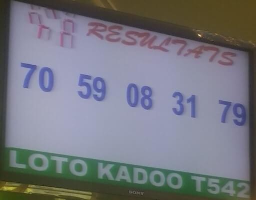 Résultats, ou numéros gagnants du loto Kadoo tirage 942