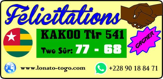 lotto Kadoo tirage 541: Deux boules gagnées dans un long perm
